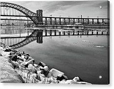Hellgate Half Reflection Acrylic Print