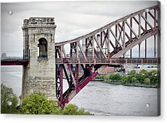 Hellgate In Grey Acrylic Print