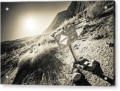 Acrylic Print featuring the photograph Hellhole Canyon Warning by T Brian Jones