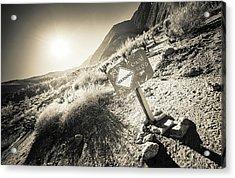 Hellhole Canyon Warning Acrylic Print