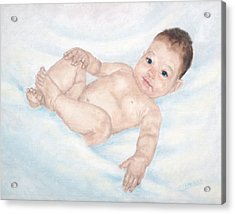 Acrylic Print featuring the painting Hello Baby by Cathy Cleveland