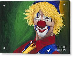 Hello Clown Acrylic Print by Patty Vicknair