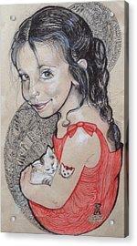 Hello Kitty Acrylic Print by Ottilia Zakany