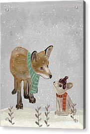 Acrylic Print featuring the painting Hello Mr Fox by Bri B
