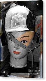 Helmet Acrylic Print by Sascha Meyer