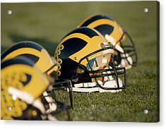 Helmets On The Field Acrylic Print