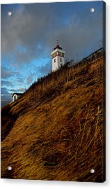 Helnaes Lighthouse Acrylic Print by Robert Lacy