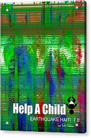 Help Save An Orphan Acrylic Print by Fania Simon