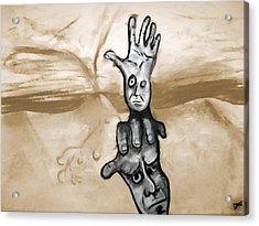 Helping Hand Acrylic Print by Jacob Smith