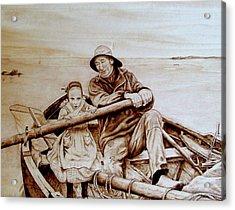 Helping Hands Acrylic Print by Jo Schwartz