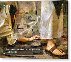Hem Of His Garment And Text Acrylic Print