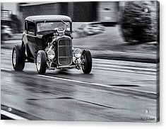 Hemi Powered 1932 Ford 5 Window Coupe Acrylic Print by Ken Morris