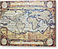 Hemisphere World  Acrylic Print