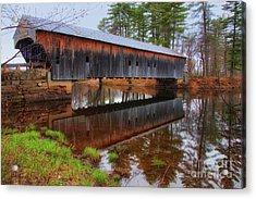 Hemlock Covered Bridge Fryeburg Maine Acrylic Print