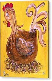 Hen Nesting Acrylic Print by Eloise Schneider