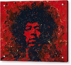 Hendrix Acrylic Print by Chris Mackie