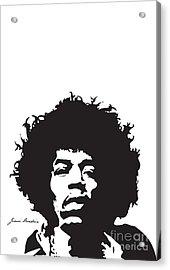 Hendrix No.01 Acrylic Print by Caio Caldas