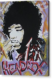 Hendrix Thoughts Acrylic Print