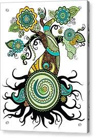 Henna Tree Of Life Acrylic Print by Serena King