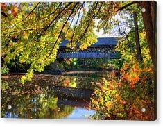 Henniker Covered Bridge In Autumn - New Hampshire Acrylic Print