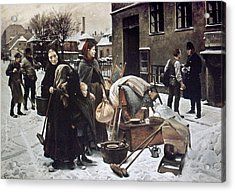 Henningsen  Evicted 1890 Acrylic Print by Granger