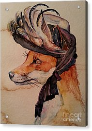 Acrylic Print featuring the painting Henrietta Fox by Christy  Freeman