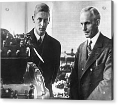Henry Ford & Prince Nicholas Acrylic Print by Underwood Archives