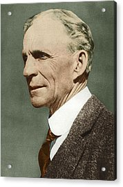 Henry Ford, Us Car Manufacturer Acrylic Print by Sheila Terry