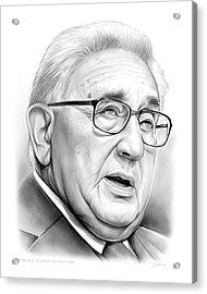 Henry Kissinger Acrylic Print by Greg Joens