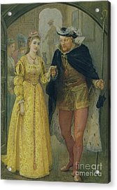 Henry Viii And Anne Boleyn  Acrylic Print by Arthur Hopkins