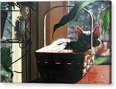 Acrylic Print featuring the painting Her Basket by Sandra Chase