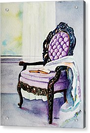 Her Chair Acrylic Print by Kathy Nesseth