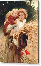 Her Constant Care Acrylic Print by Frederick Morgan
