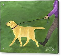 Her Dog Took Her Everywhere Acrylic Print