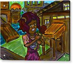 Her Doll Land Acrylic Print