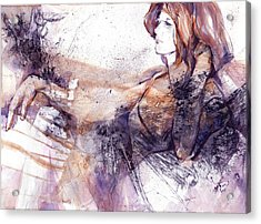 Her Elegance Acrylic Print by Joan  Jones