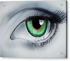 Her Eye Acrylic Print by Michael McKenzie