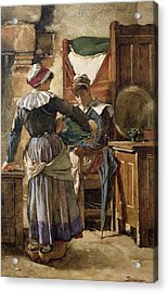 Her First Born Acrylic Print by Walter Langley