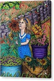 Her First Garden Acrylic Print