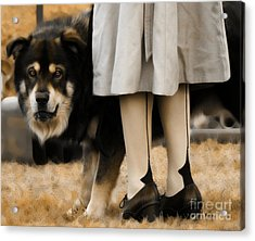 Her Guardian  Acrylic Print by Steven Digman