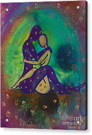 Her Loves Embrace Divine Love Series No. 1006 Acrylic Print by Ilisa Millermoon
