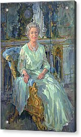 Her Majesty The Queen Acrylic Print by Susan Ryder
