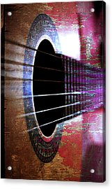 Her Old Guitar Acrylic Print by Rozalia Toth