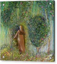 Her Secret Garden Acrylic Print by Michaela Kraemer