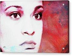 Her Soul Acrylic Print by Joan Bertucci