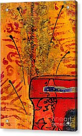 Her Vase Acrylic Print by Angela L Walker