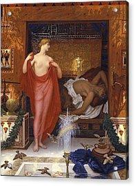 Hera In The House Of Hephaistos Acrylic Print by William Blake Richmond