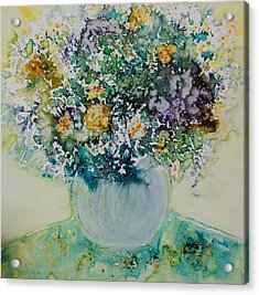 Acrylic Print featuring the painting Herbal Bouquet by Joanne Smoley