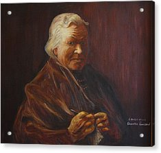 Acrylic Print featuring the painting Herbert Abrams Mother by Quwatha Valentine