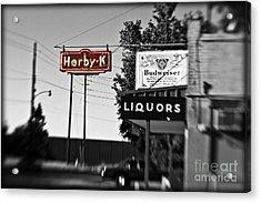 Herby K - Lensbaby Bw Acrylic Print